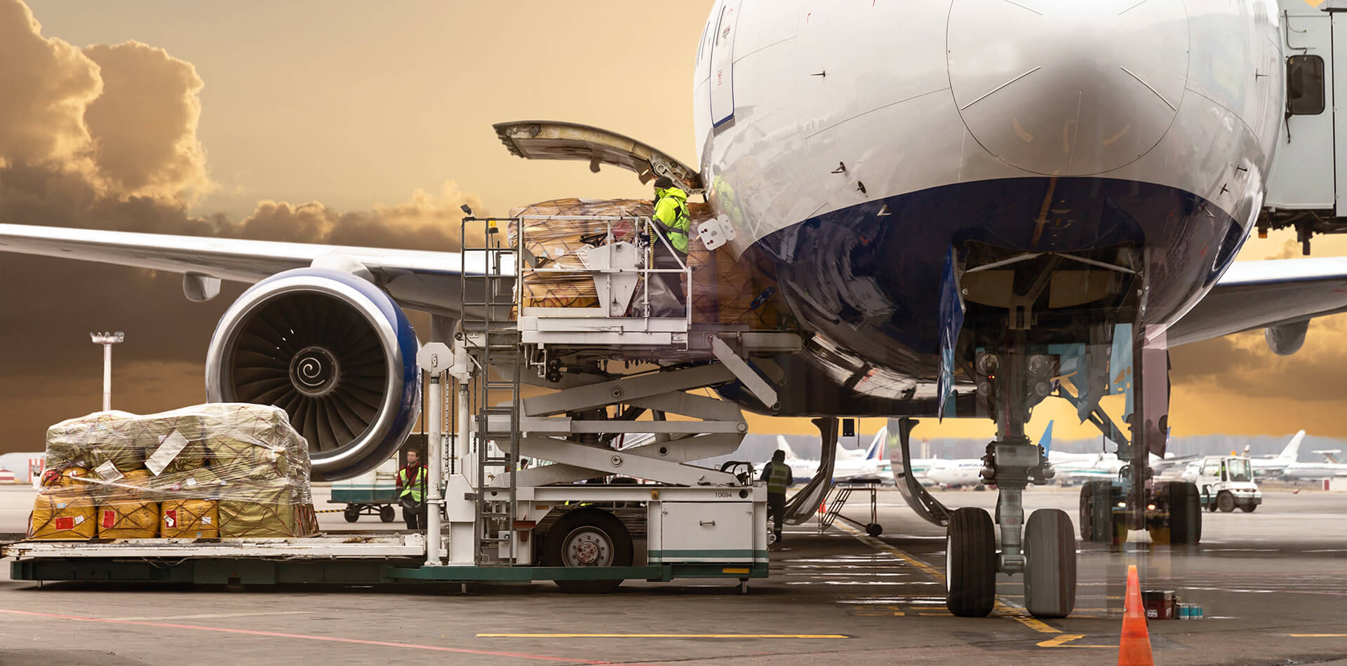 Airplane getting loaded